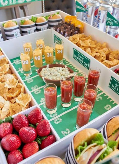 June 6 - Football Snacks - Photo courtesy of Pinterest